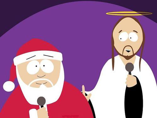 Weihnachtsmann und Jesus aus South Park